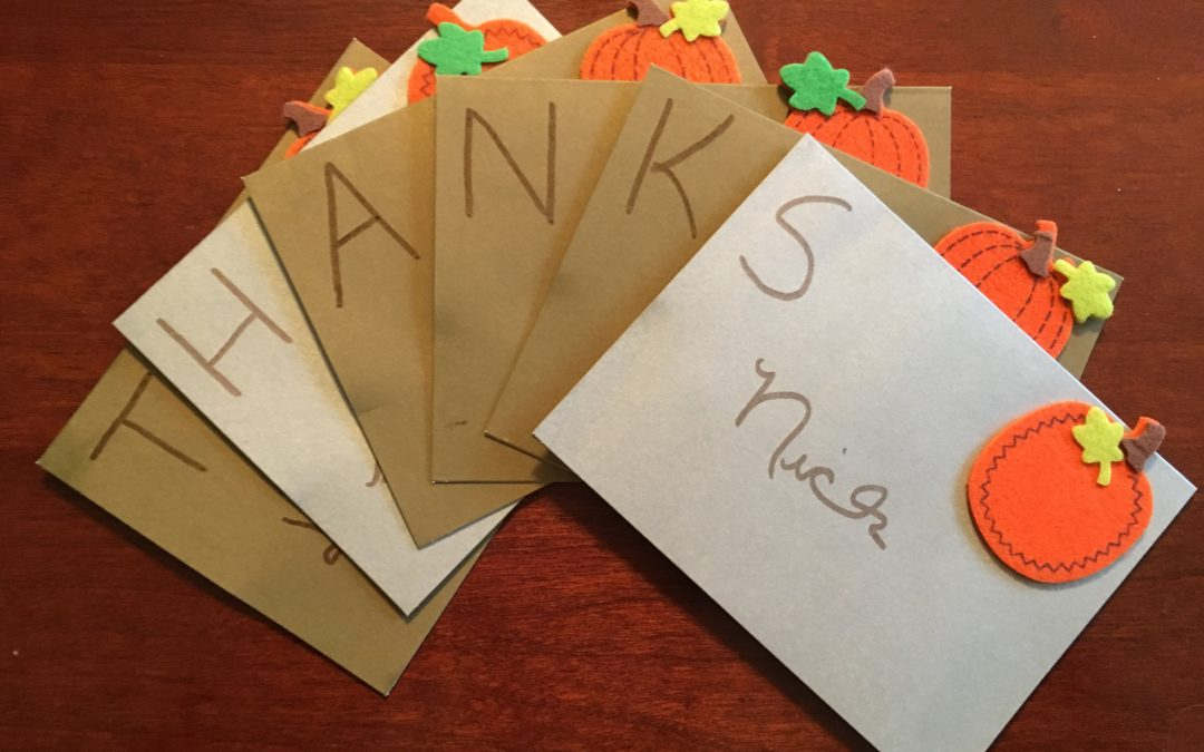 Thanksgiving Place Cards Activity