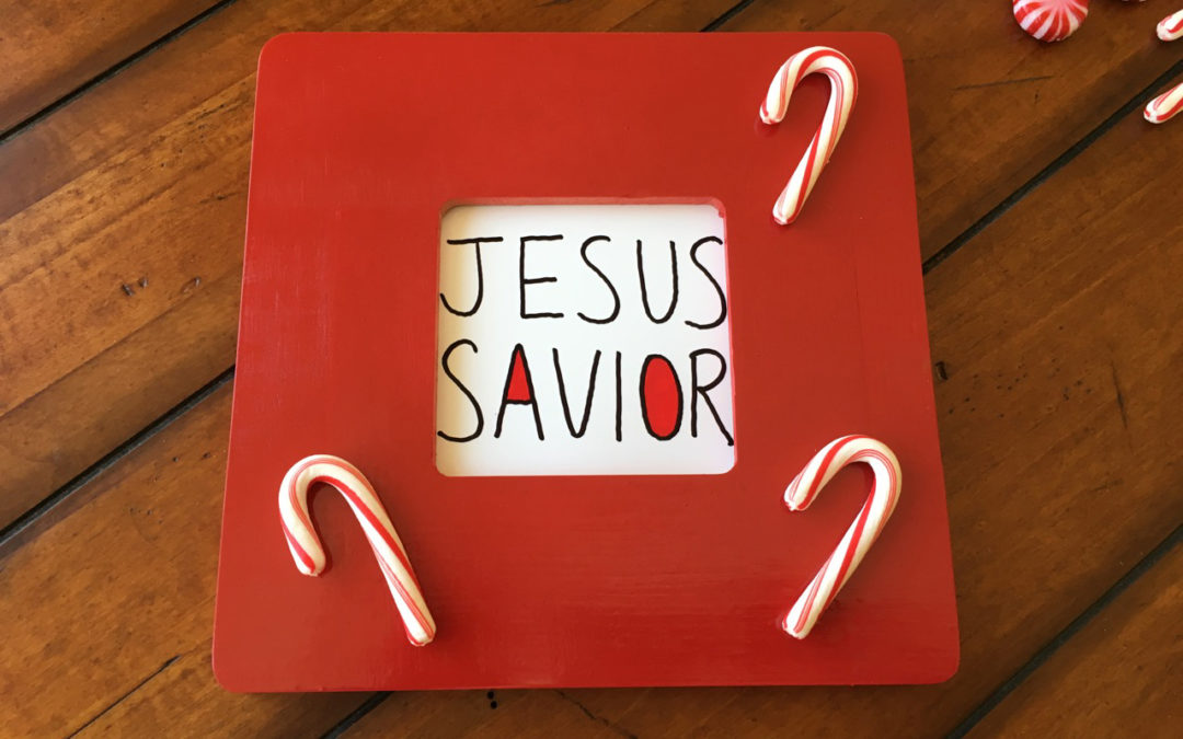 The Name of Jesus – Picture Frame Craft (Matthew 1:21)