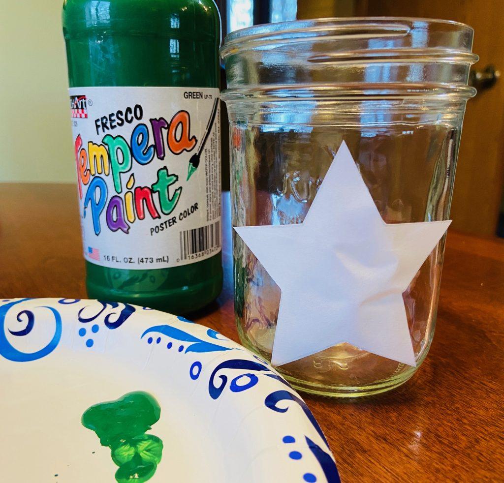 holiday hope jar star shape