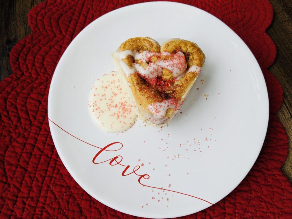 Valentine's Day cinnamon roll devotional